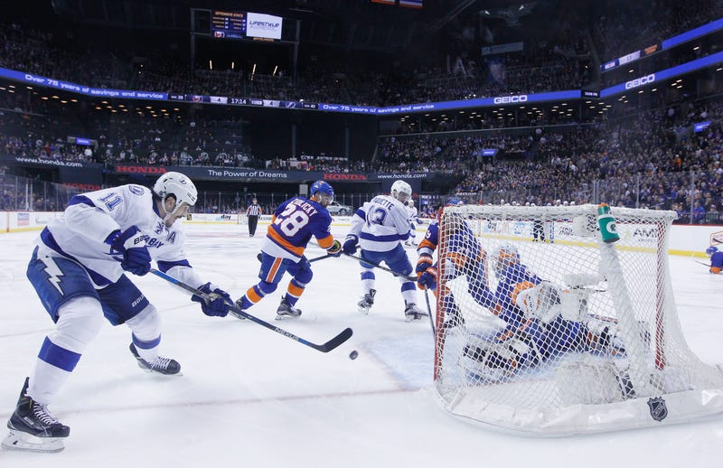 Illustration for article titled Islanders Furious After Big Hit Leads To Lightning OT Win