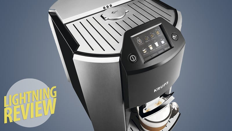 krups ea9000 automated espresso machine turn your kitchen into a private starbucks. Black Bedroom Furniture Sets. Home Design Ideas