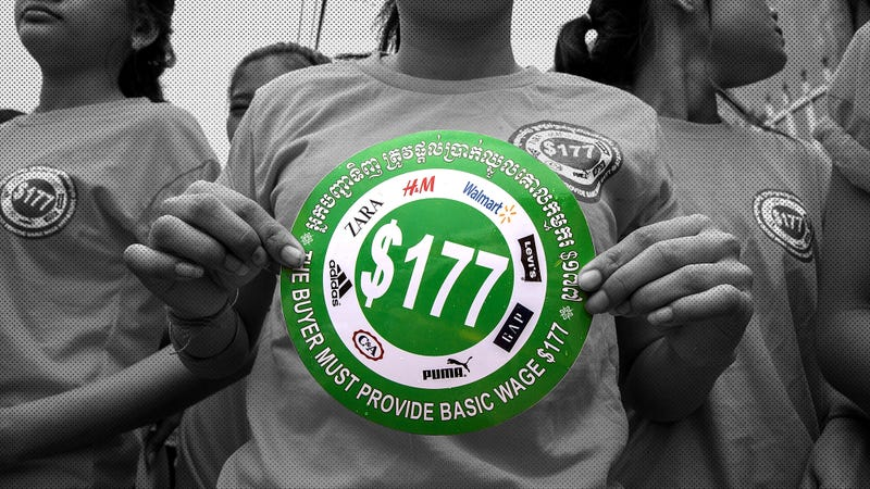 Illustration for article titled H&M's Cambodian Garment Workers Are Only Asking for $177 per Month: Why Can't They Get It?