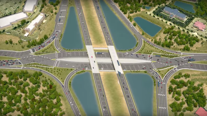 Illustration for article titled The Diverging Diamond Interchange Looks Like Hell But Promises a Safer Future