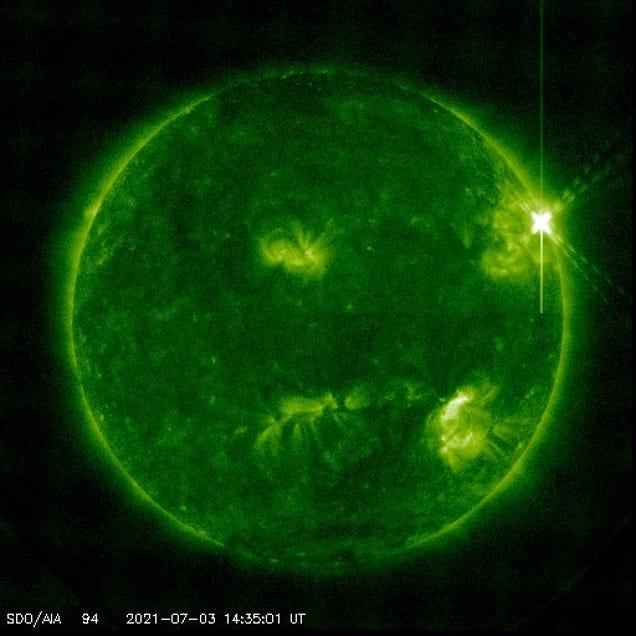 Sun Gets Ahead of Itself, Shoots Off Huge Solar Flare on July 3rd