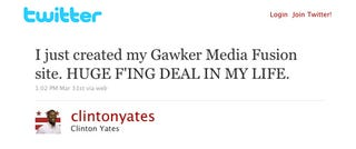 Illustration for article titled Gawker Media My Fusion Site Is 'Huge F'ing Deal'