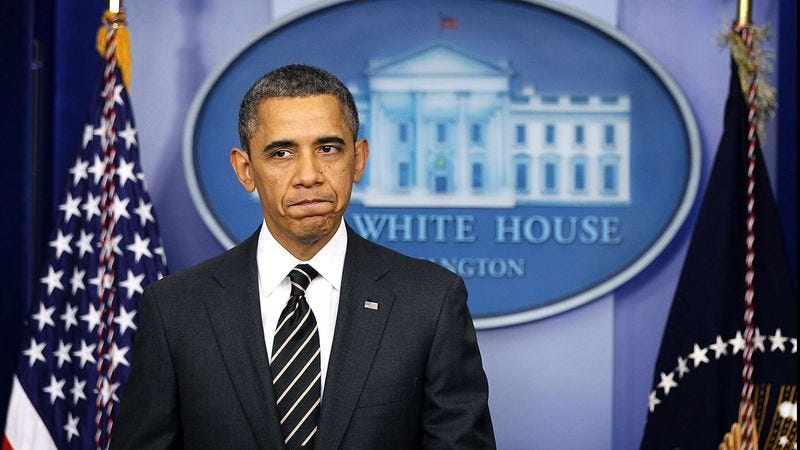 Illustration for article titled Obama Blanks On What He's Ineffectually Urging Congress To Take Action On Now
