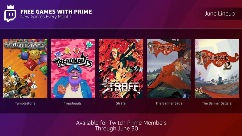 Twitch Prime June Free Games