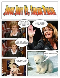 Illustration for article titled Comic Confrontations: Judge Judy Vs. Sarah Palin