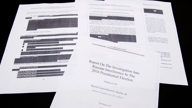 Report: You're Far Too Dumb To Be Reading The Mueller Report Yourself