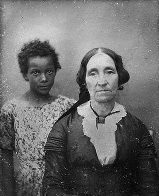 This daguerreotype shows a New Orleans woman with her slave in the mid-19th century.