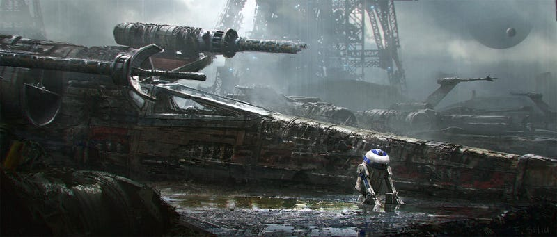 Illustration for article titled A Sad R2 Unit Waits in the X-Wing Graveyard