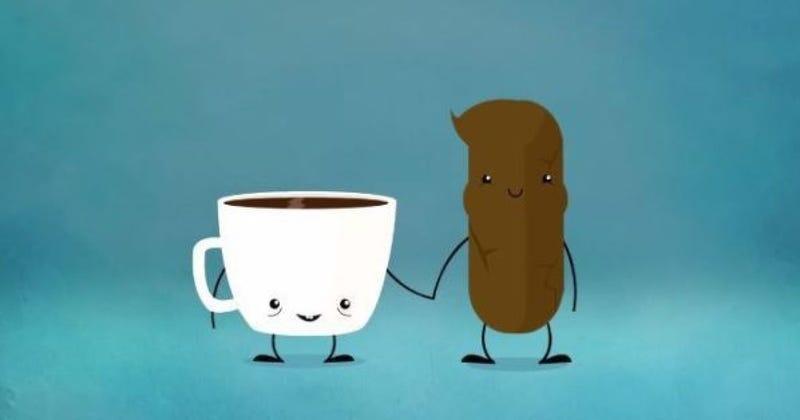 Illustration for article titled Qué produce el irresistible deseo de hacer caca después del café (pista: no es la cafeína)