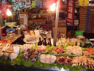 Myeongdong Food Market in Seoul, South Korea (Jennifer Neal)