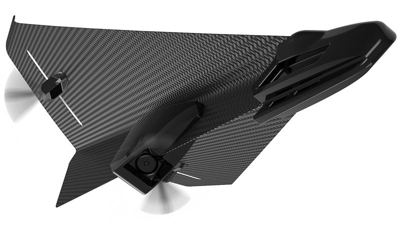 Illustration for article titled This RC Carbon Fiber Glider Looks Like a Stealthy Paper Airplane