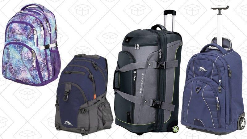 Hasta un 30% de descuento en mochilas y maletas de High Sierra