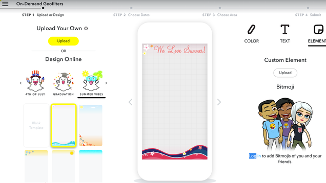 How to Design Your Own Custom Snapchat Geofilters Directly