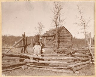 """Home of the Creek Freedmen,"" circa 1900U.S. National Archives"
