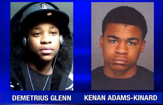 """Demetrius Glenn and Kenan Adams-Kinard were both charged in the death of 88-year-old Delbert """"Shorty"""" BeltonKXLY"""