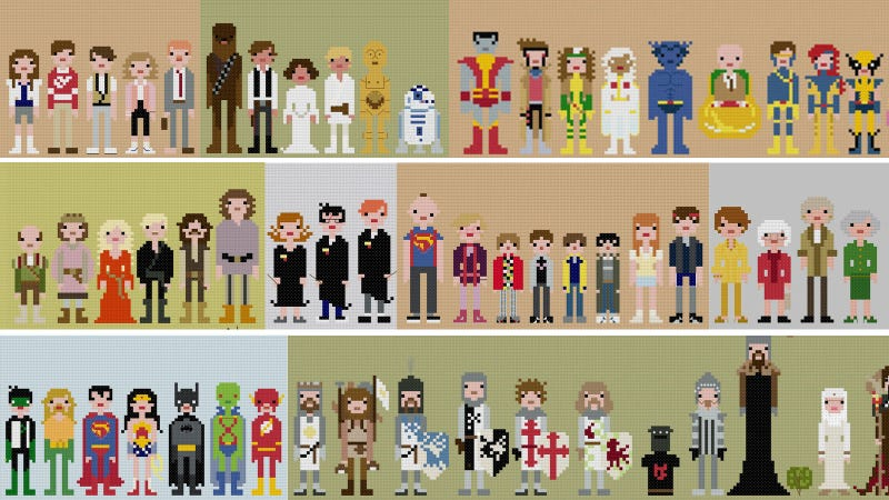 Illustration for article titled I Want All These Impossibly Cool 8-Bit Cross-Stitches