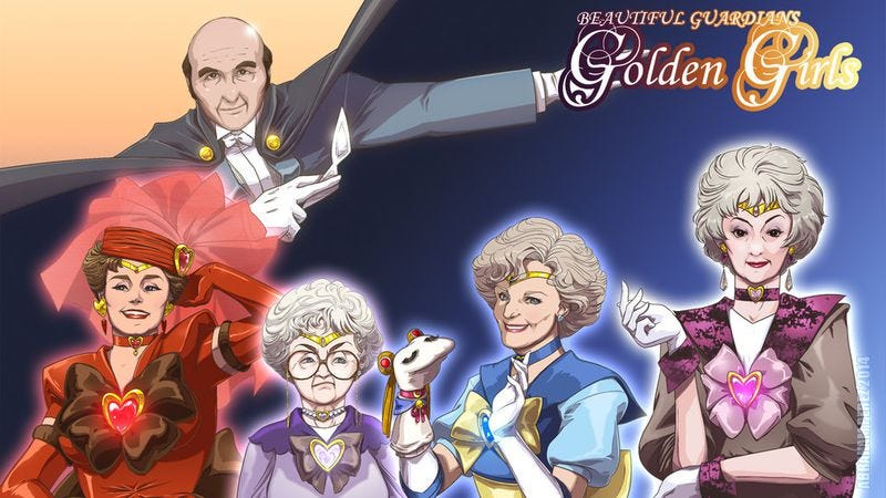 Illustration for article titled These Sailor Moon Golden Girls drawings thank you for fighting evil by moonlight