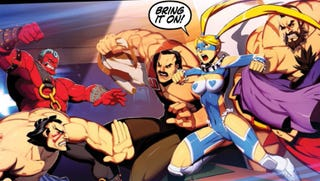 Illustration for article titled This New Super Street Fighter Graphic Novel from Udon Delivers a Greasy Battle Royale