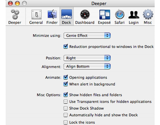 Illustration for article titled Enable Hidden Settings in OS X with Deeper