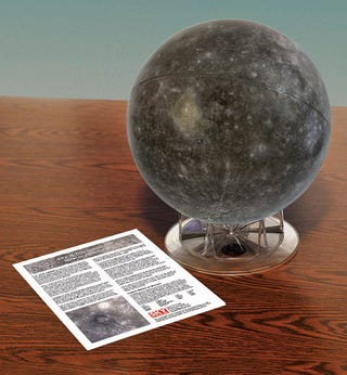 Illustration for article titled Check out the first complete globe of the planet Mercury