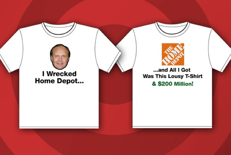 Illustration for article titled CNBC's Jim Cramer Takes On Bob Nardelli With A Home Depot T-Shirt