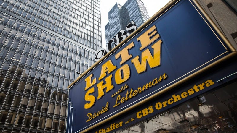 Illustration for article titled The Late Show With David Letterman marquee has already been taken down