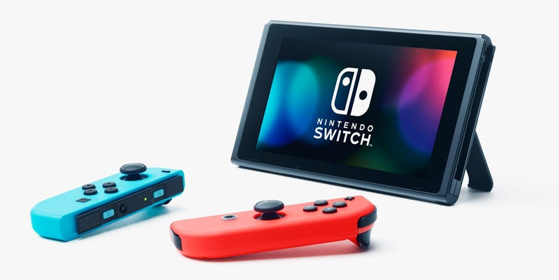 Glamour shot of the Nintendo Switch.