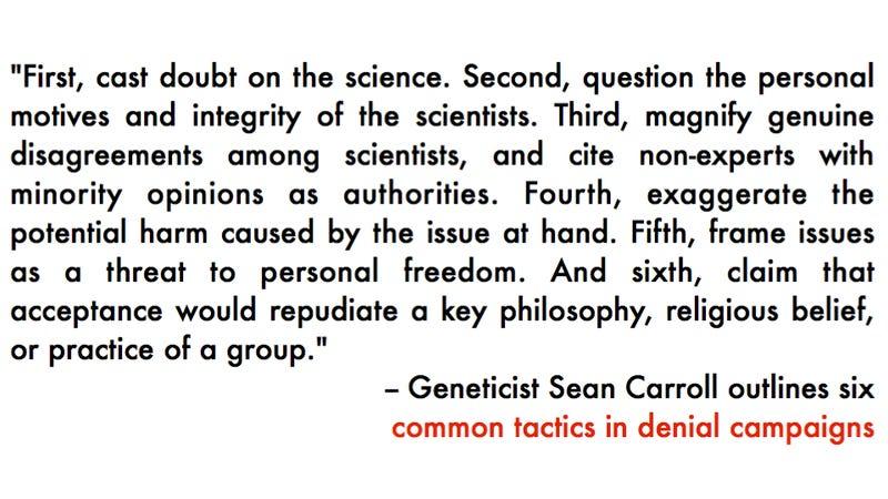 Illustration for article titled How to distinguish crap denialism from legitimate scientific debate