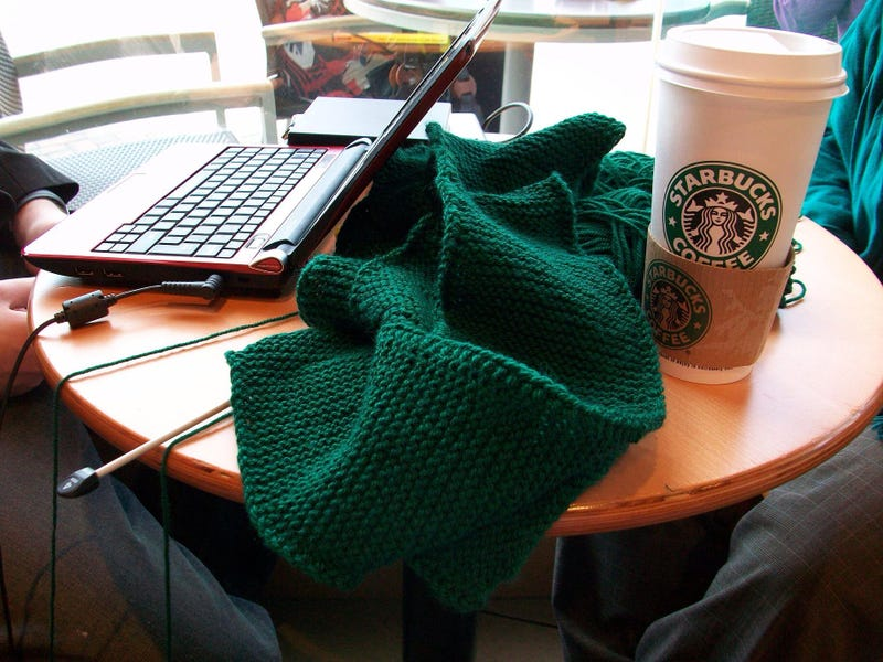 Illustration for article titled Police Question Man Knitting in Starbucks