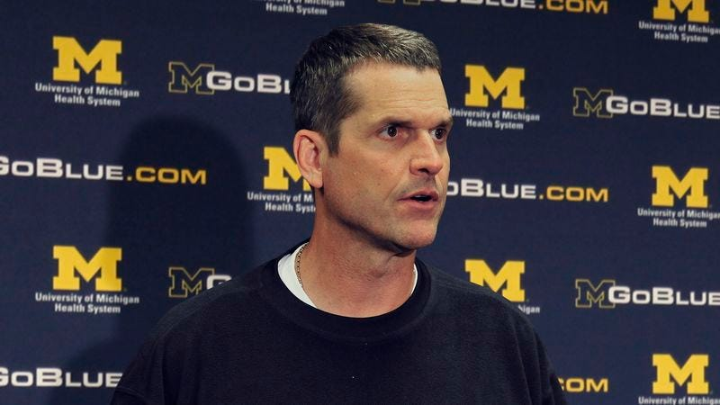 Illustration for article titled Jim Harbaugh Spends Post-Practice Interview Heaping Praise On Blade Of Grass That Really Impressed Him