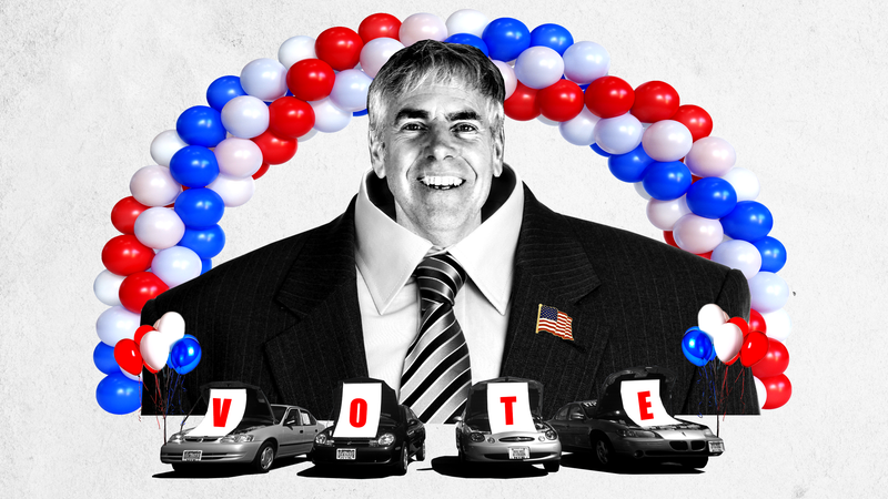 Illustration for article titled The Car Repair Kingpin Who Could Be Governor, if He Remembers His Lines