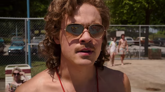 Lifeguard Billy turns heads in this sun's out, guns out Stranger Things 3 clip