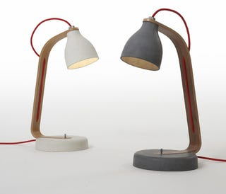 Illustration for article titled Concrete Lamp: Maybe It's Time For a Stronger Desk