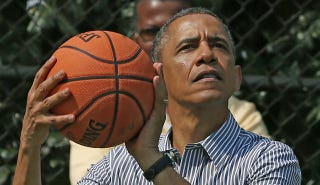 Illustration for article titled An Impromptu (And Fictional) Game Of Hoops With Barack Obama