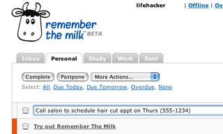Get Organized with Remember the Milk