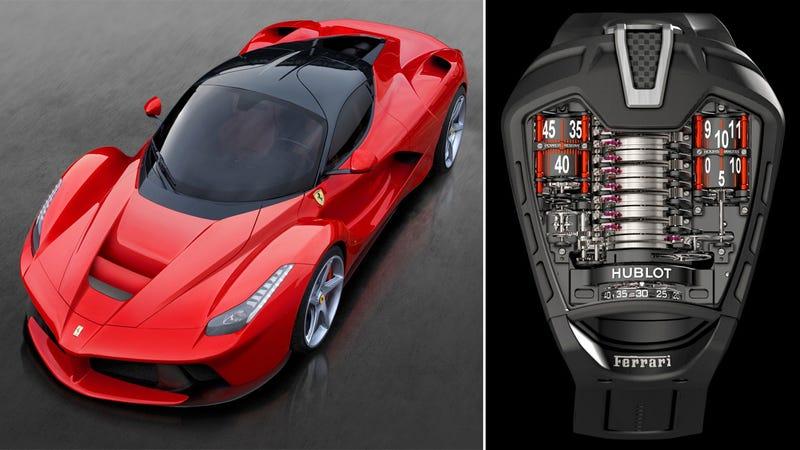 Illustration for article titled Este lujoso reloj esta diseñado para estar a la altura de un Ferrari