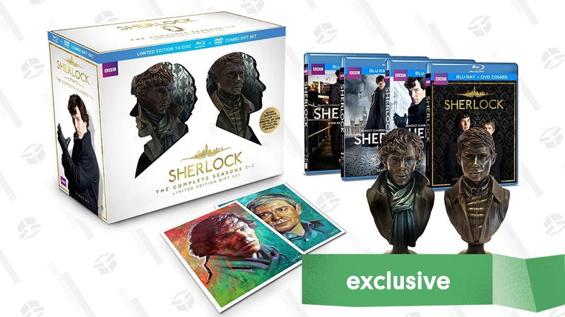 Sherlock Seasons 1-3 DVD/Blu-ray Gift Set | $43 | Daily Steals | Promo code KJSHERL7