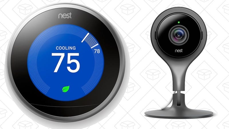 Nest Learning Thermostat, $200 with code NESTDEAL   Nest Cam Security Camera, $150 with code NESTCAM
