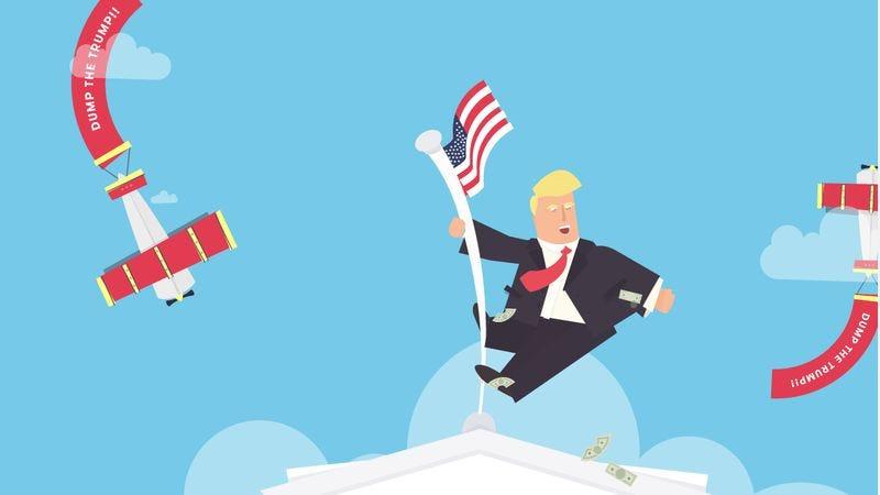 Topple Trump! (Screenshot: toppletrump.com)