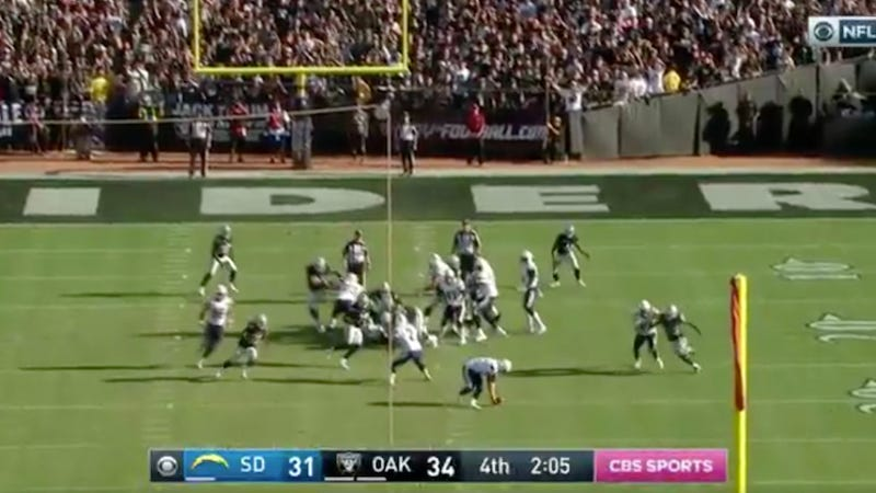 Chargers Line Up For Game Tying Field Goal Crap Themselves