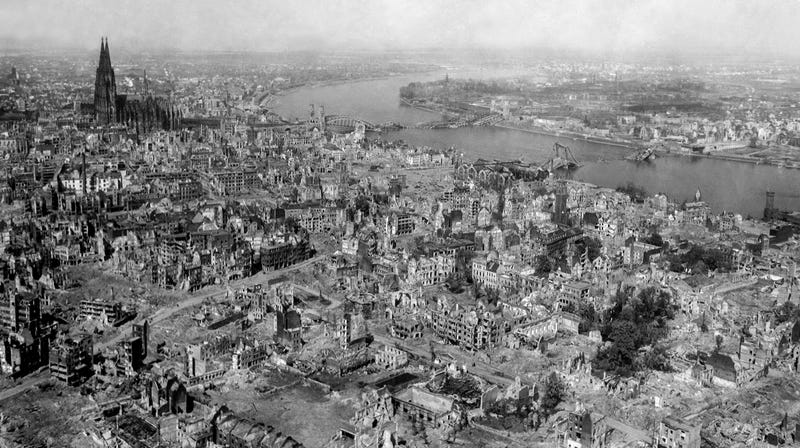 Cologne, Germany, on April 24, 1945.