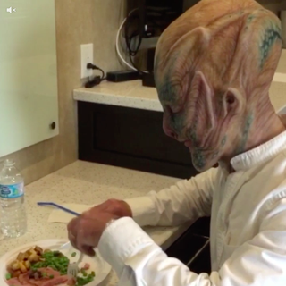Illustration for article titled Jeff Bezos Is Dressed as an Alien in His First Vine (WTF JEFF!)