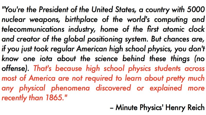 Illustration for article titled An Open Letter to the President: US physics education is crap. Let's fix it.