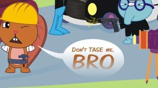"Illustration for article titled TASER® Trademark Hounds Insist Man Using ""Taser"" At Stadium Fight Was Not Using TASER®"