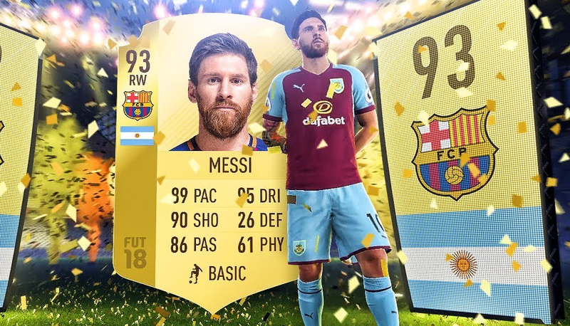 In games like FIFA 18 people can spend money to open packs of cards containing players for their online team.