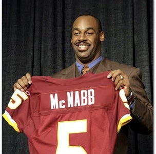 Illustration for article titled McNabb Now Officially A Redskin And The Eagles Are Now Officially Demolished
