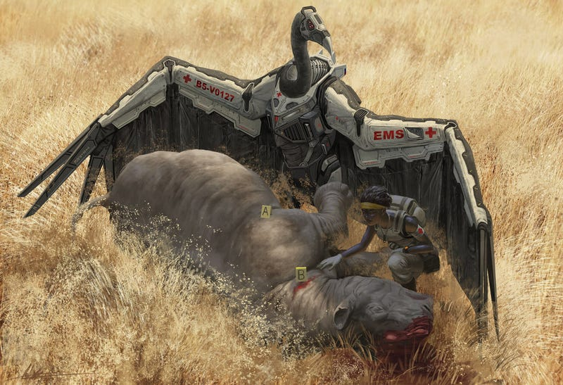 Illustration for article titled Robots shaped like African animals join the fight against poachers