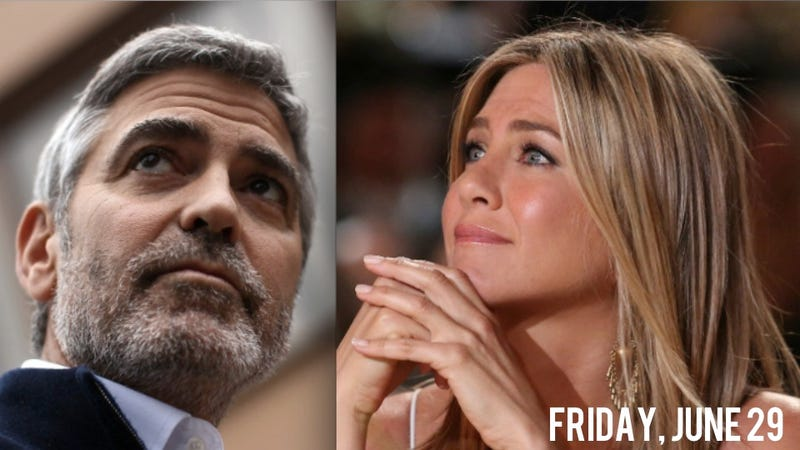 Illustration for article titled George Clooney And Jennifer Aniston Share Private Jet, Awkwardly Avoid Topic Of Brad Pitt