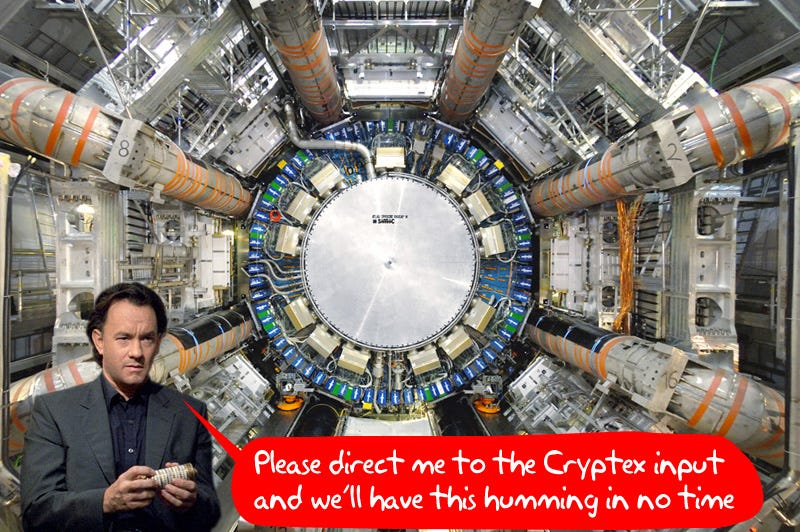 Illustration for article titled Large Hadron Collider's Restart Button To Be Pressed By Tom Hanks