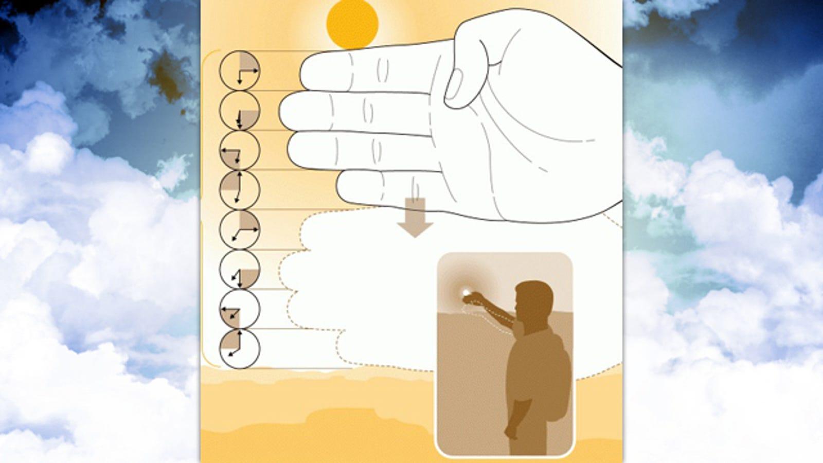 Stimare l'ora del tramonto con la tua mano-8361